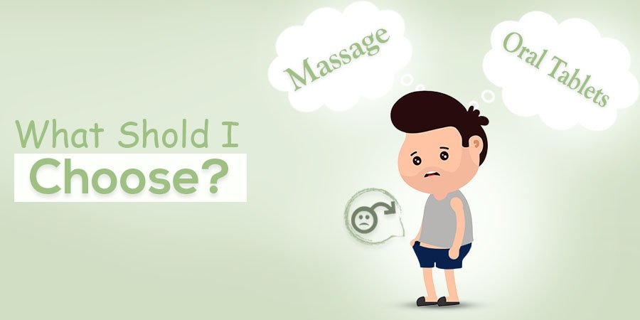 Massage or Oral Tablets – What would you Choose for Treating ED?
